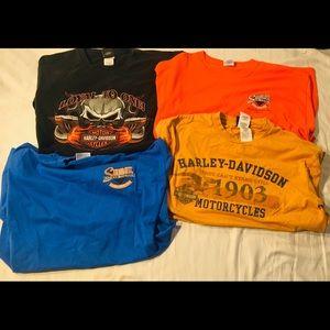 Harley-Davidson t shirt bundle size L/XL